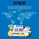 Payment at around the world. Financial,online banking,saving money. Vector illustration. Payment at around the world. Financial,online banking,saving money Royalty Free Stock Images