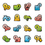 Payment of  bills icons Stock Images