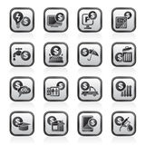 Payment of bills icons royalty free illustration