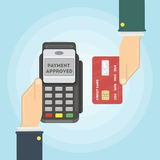 Payment with card. Royalty Free Stock Photography