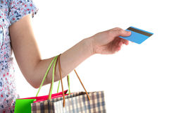 Payment card purchases Stock Image
