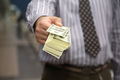 Payment of cash Royalty Free Stock Photography