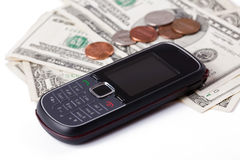 Payment for cellphone Royalty Free Stock Photography
