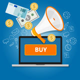 Payment click to buy online transaction money commerce internet sales Royalty Free Stock Image