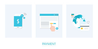 Payment concept icon set Royalty Free Stock Photo