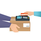Payment by credit card vector illustration