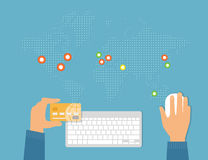Payment by credit card Stock Photography
