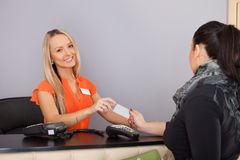 Payment with credit card. Royalty Free Stock Image