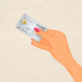 Payment with cretid card Royalty Free Stock Images