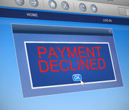 Payment declined concept. Stock Photos