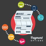 Payment design,  illustration. Stock Image