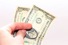 Payment in dollars Stock Photography