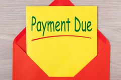 Payment Due Concept stock photography