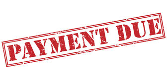 Payment due red stamp Royalty Free Stock Photo