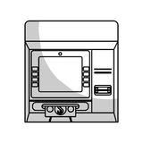Payment economy icon image. ATM machine payment economy icon image  illustration design Royalty Free Stock Photos