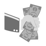 Payment economy icon image. Cash payment economy icon image  illustration design Royalty Free Stock Images