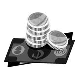 Payment economy icon image. Cash payment economy icon image vector illustration design Stock Photography