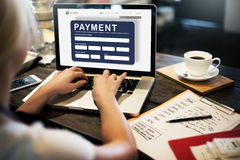 Payment Electronic E-commerce Credit E-payment Concept Stock Image