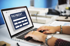 Payment Electronic E-commerce Credit E-payment Concept Royalty Free Stock Photos