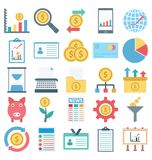 Payment and Finance Isolated and Vector Icons Set consist with Banking, finance, payment and digital marketing related icons that royalty free illustration
