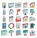 Payment and Finance Isolated and Vector Icons Set consist with Banking, finance, payment and digital marketing related icons that stock illustration