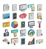 Payment and Finance Isolated and Vector Icons Set consist with Banking, finance, payment and digital marketing related icons that vector illustration