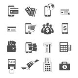 Payment and financial icons set vector. Payment and financial on white icons set vector Royalty Free Stock Photo