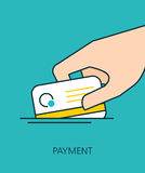 PAYMENT flat line icon concept Stock Photo