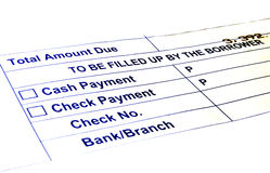 Payment Forms. To consumers and customers payments Royalty Free Stock Image
