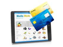 payment for goods in the media store Stock Photo