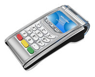 Payment GPRS Terminal,  on white. 3d illustration Royalty Free Stock Images