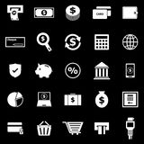 Payment icons on black background Stock Image