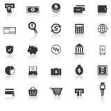 Payment icons with reflect on white background Stock Photos