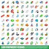 100 payment icons set, isometric 3d style. 100 payment icons set in isometric 3d style for any design illustration royalty free illustration