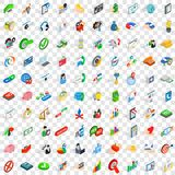 100 payment icons set, isometric 3d style. 100 payment icons set in isometric 3d style for any design vector illustration Stock Photos