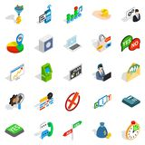 Payment icons set, isometric style. Payment icons set. Isometric set of 25 business payment vector icons for web isolated on white background Royalty Free Stock Images