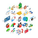 Payment icons set, isometric style. Payment icons set. Isometric set of 25 business payment vector icons for web isolated on white background Stock Photo