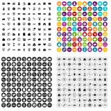 100 payment icons set vector variant. 100 payment icons set vector in 4 variant for any web design isolated on white Stock Images