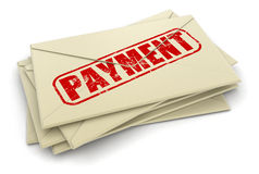 Payment letters  (clipping path included) Stock Photos