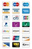 Payment method icons. Vector icons collection of payment methods, including the major credit cards paypal etc. Editable Eps file available
