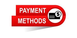 Payment methods banner. Commerce concept web banner icon on isolated white background - vector eps illustration Royalty Free Stock Photography