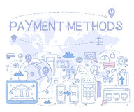Payment Methods Infographics. Vector Illustration Stock Photo