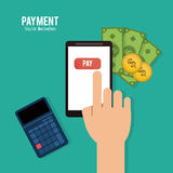 Payment and Money design. Payment concept with money design, vector illustration 10 eps graphic Royalty Free Stock Photo