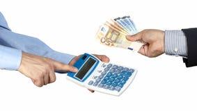 Payment money hands calculator royalty free stock photos