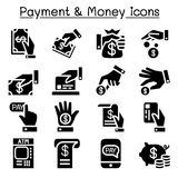 Payment & money icon set. Illustration Stock Photo