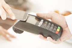 Payment. NFC - Near field communication, mobile payment Stock Photo