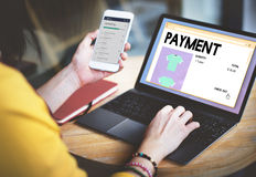 Payment Online Shopping Networking Internet Concept Stock Photography