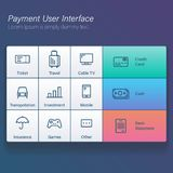Payment online user interface modern screen for kiosk or application vector illustration flat design. Payment online user interface modern screen for kiosk or Royalty Free Stock Images