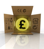 Payment in pounds for ordered goods delivery Royalty Free Stock Photo