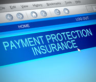 Payment protection insurance concept. Royalty Free Stock Image